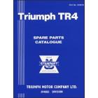 Triumph TR4 Spare Parts Catalogue