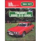 Triumph 2000 2.5 2500 1963-1977