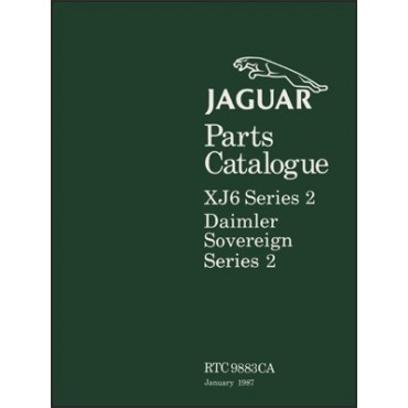 Jaguar XJ6 Series 2 & Daimler Sovereign Series 2 Spare Parts Catalogue