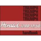 Triumph Herald 1200-12/50 Owners Handbook