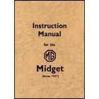 MG Midget TC Instruction Manual