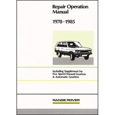range rover workshop manual