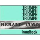 Triumph Herald 13/60 Owners Handbook