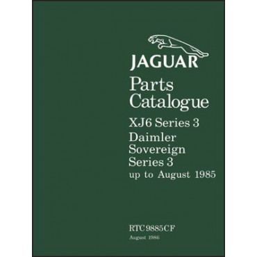Jaguar XJ6 & Daimler Sovereign Series 3 Parts Catalogue