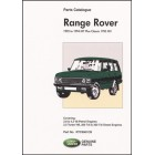 Range Rover Parts Catalogue 1992-1994 MY plus Classic 1995 MY
