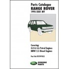 Range Rover Parts Catalogue 1995-2001 MY
