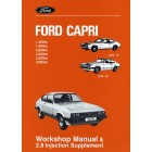 FORD CAPRI WORKSHOP MANUAL & 2.8 Injection Supplement 1974-1987