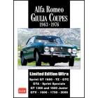 Alfa Romeo Giulia Coupes Limited Edition Ultra 1963-1976