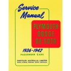 Plymouth Dodge De Soto Service Manual 1936-1942