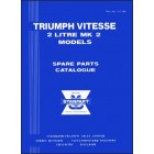 Triumph Vitesse 2-Litre Mk 2 Spare Parts Catalogue
