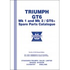 Triumph GT6 Mk 1 and Mk 2 /GT6 + Spare Parts Catalogue