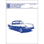 Triumph Spitfire Mk 4 & 1500 Parts Catalogue 1973-1974