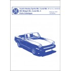 Austin-Healey Sprite Mk. 3 and Mk. 4, MG Midget Mk. 2 and Mk. 3 Parts Catalogue